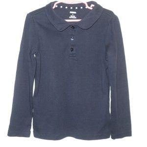 Gymboree Girls Size 6 Top Navy Blue Long Sleeves